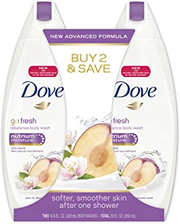 Dove go fresh Body Wash, Rebalance 14.5 oz, Twin Pack