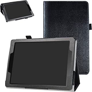 Chromebook Tablet CT100PA Case,Bige PU Leather Folio 2-Folding Stand Cover for 9.7
