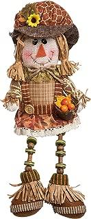 Transpac Imports Plush Scarecrow Shelf Sitter Decor, Brown