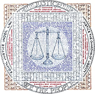 Literary Calligraphy Article 3: Justice Art Print by Susan Loy