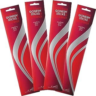 Gonesh Strawberry-4 PACKS-120 Total Everyday Incense, 120 Sticks