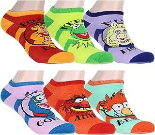 Disney The Muppets Socks Adult Kermit Animal Miss Piggy Beaker Fozzie Gonzo 6 Pack No Show Ankle Socks
