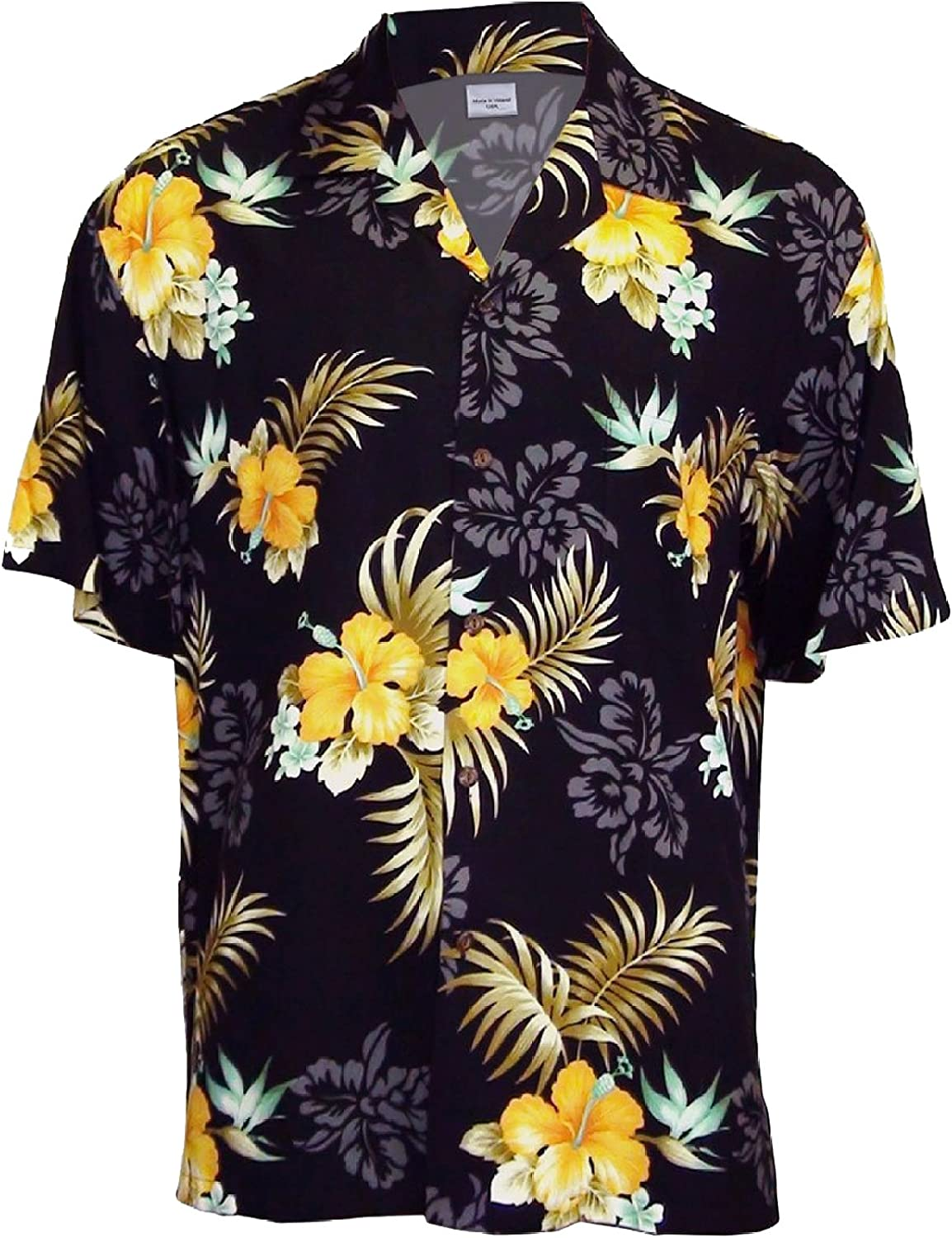 Two Palms Men's Fern New arrival Rayon Hibiscus Shirt Max 71% OFF