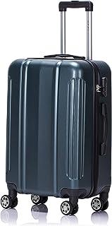 LYS - Valise Cabine Trolley 55x35x21 cm Ultra léger Rigide Rouge 4 Roues doublées ABS pour Toutes compagnies aériennes (Vert)