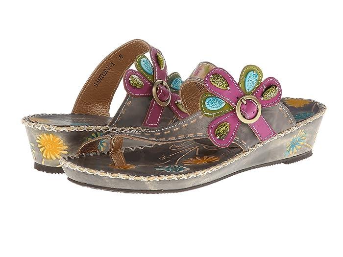 Vintage Sandals | Wedges, Espadrilles – 30s, 40s, 50s, 60s, 70s LArtiste by Spring Step Santorini Grey Leather Womens Sandals $89.95 AT vintagedancer.com