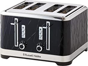 Russell Hobbs RHT334BLK, Structure 4 Slice Toaster, Dual Browning Controls, High-Lift, Black