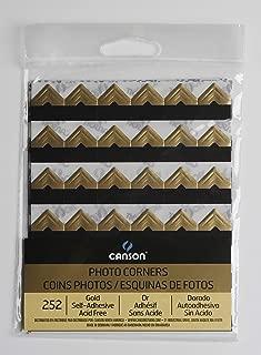 CANSON 100510401 Self Adhesive Photo Corners, Gold