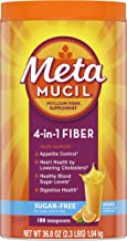 Metamucil Fiber, 4-in-1 Psyllium Fiber Supplement, Sugar-Free Powder, Orange Flavored Drink, 180 Servings, 36.8 Ounce