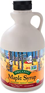 Coombs Family Farms Maple Syrup, Organic, Grade A, Dark Color, Robust Taste, 32-Ounce