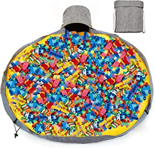 Large Play Mat for Lego City Storage and Organizers Bag Outdoor Toy Quick Storage Container Collapsible Canvas Basket Slid...