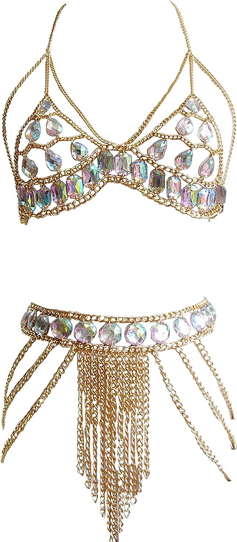Allison Jennie Holiday Party Women Fashion Body Chain Suit