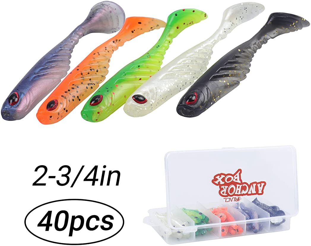 """Lures Pro-Fishing Lures Baits Hooks Tackles Grub soft bait Crappie 3/"""" 2/"""" 1/"""""""