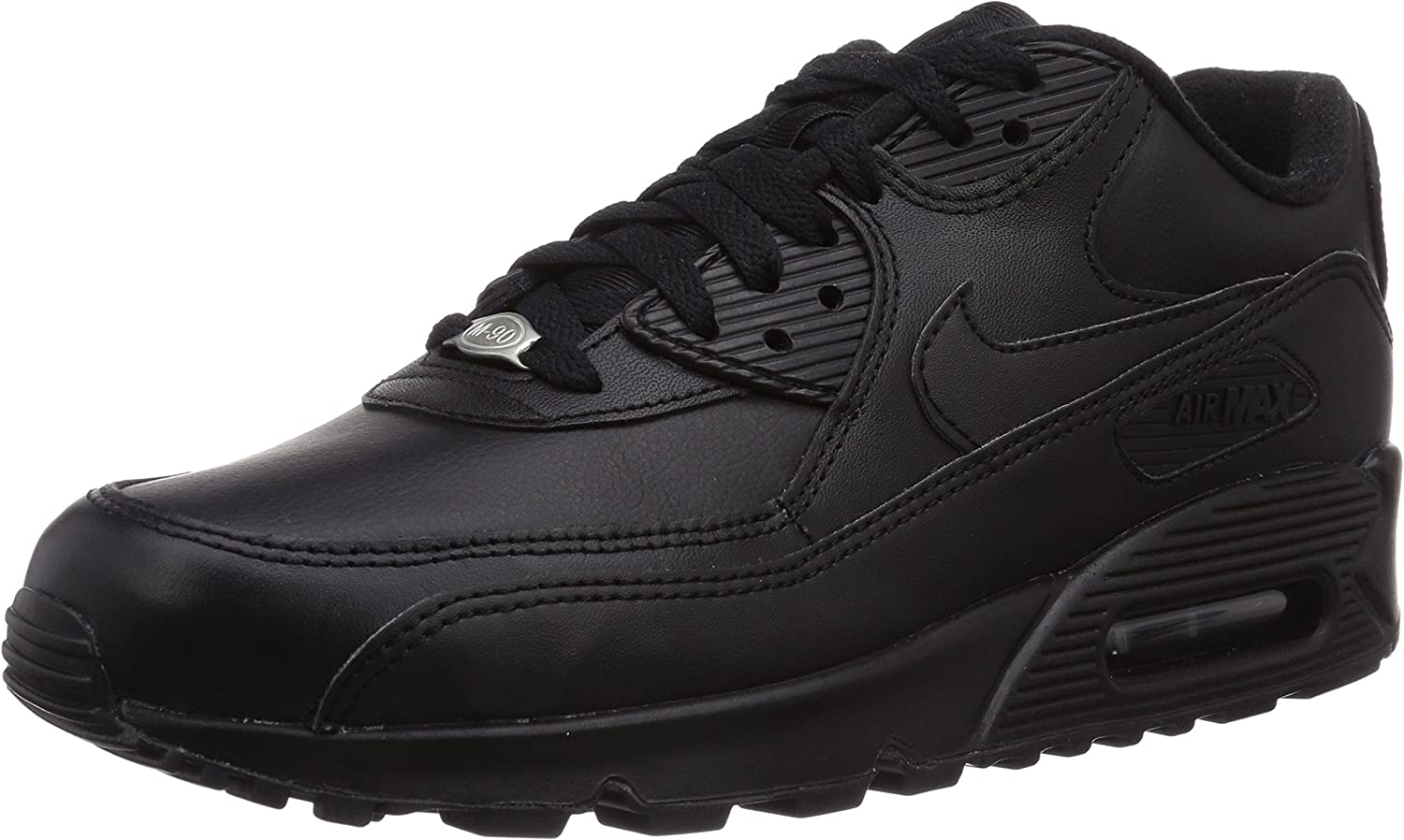 Nike Mens Air Max 90 Leather Running shoes Black Black 302519-001 Size 12.5