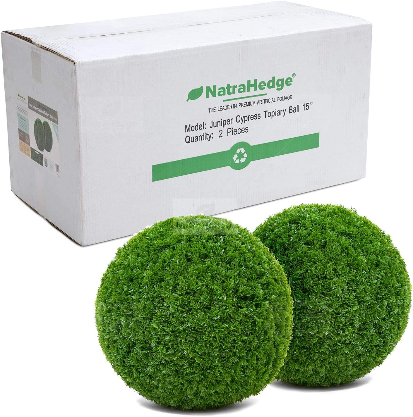 NatraHedge Artificial Topiary Ball Popular Ranking TOP6 Set Foliage - for Balls Faux