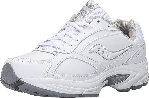 Saucony  Omni Walker, Chaussures de tennis pour homme Blanc Wht Sil 41.5