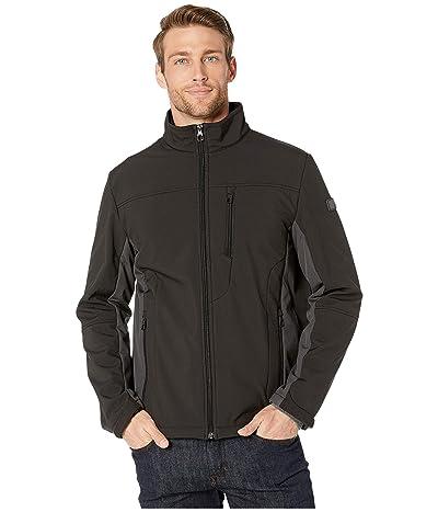 Tumi Stretch Softshell Jacket with Faux Fur Lining (Black/Iron) Men