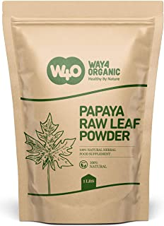 Papaya Leaf Powder 16 Ounces(1 Pound), Dried from Fresh Green Leaves, Good to make Tea, juice extract, 100% Leaves Powder(...