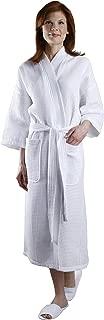 Waffle Cotton 3/4 Sleeve Robe