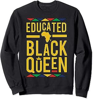 Melanin Sweatshirt Women Educated Black Melanin Queen Gift Sweatshirt