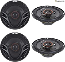4 New (2 Pairs) Alphasonik AS26 6.5 inch 350 Watts Max 3-Way Car Audio Full Range Coaxial Speakers with Universal Mounting... photo