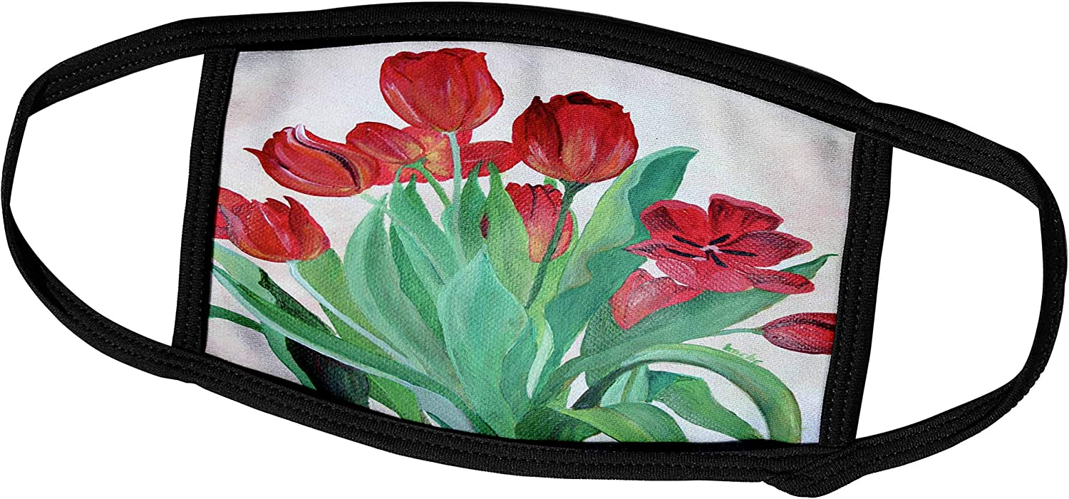 3dRose Limited price sale Bunch of Red Flowers Wholesale Tulips -