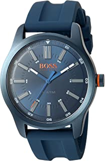 Men's 'Dublin' Quartz Stainless Steel and Rubber Casual Watch, Color:Blue (Model: 1550046)