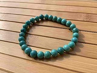 Pulsera TURQUESA auténtica perla auténtica Piedra natural semipreciosa