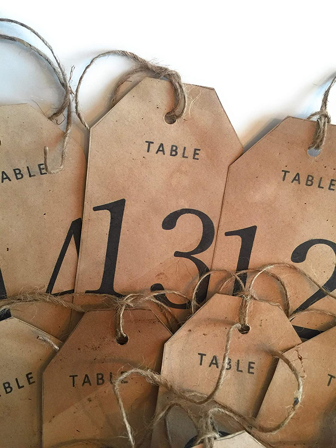Set Now free shipping of 15 Tea Stained table Reception Rustic numbered tags Bargain