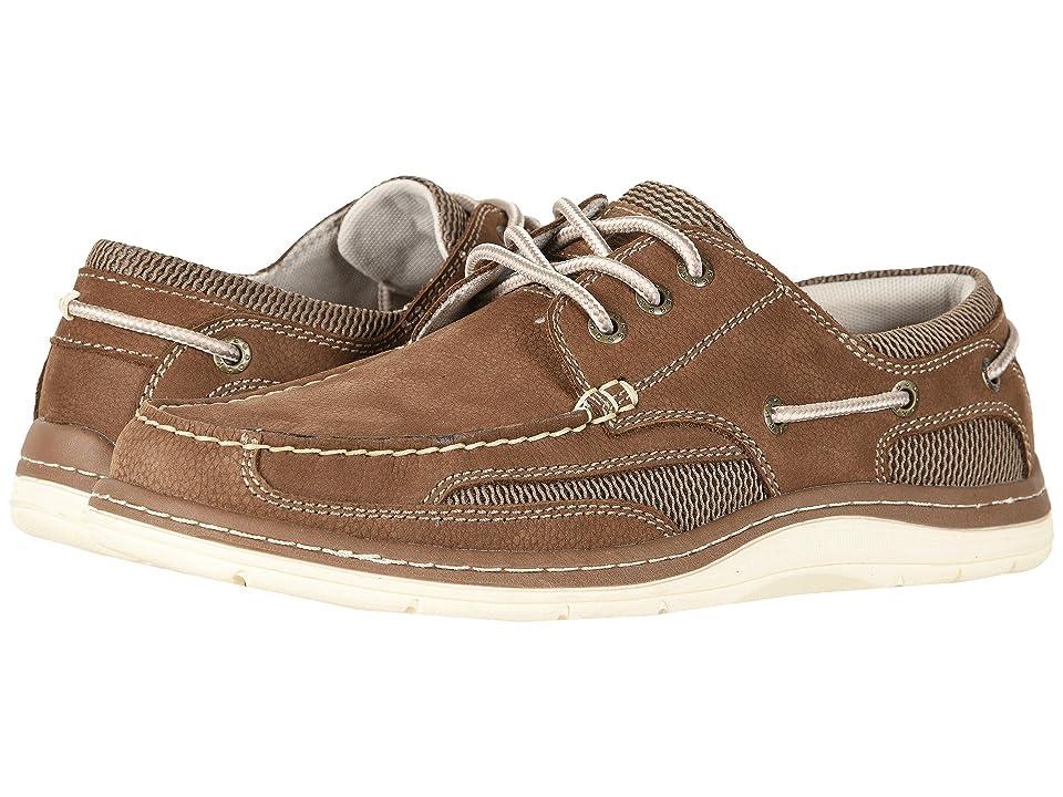 Dockers Lakeport Boat Shoe (Dark Taupe Tumbled Nubuck) Men
