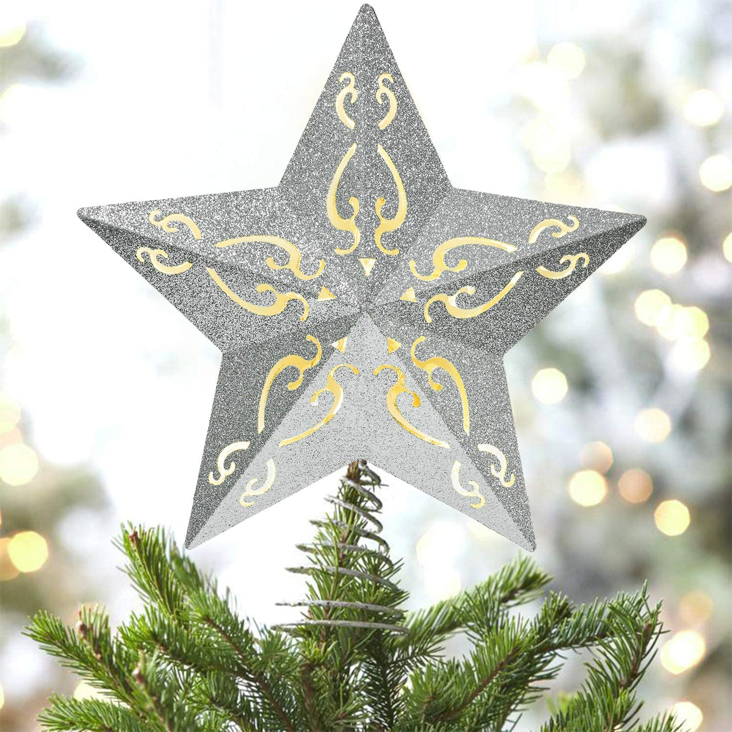 Lvydec Lighted Christmas Tree S Battery Ranking TOP2 Operated Be super welcome Topper