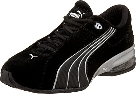 Amazon.com | PUMA Men's Jago V Suede Sneaker,Black/Silver,6.5 D ...