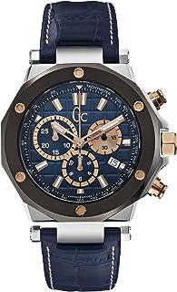 GUESS - X72025G7S - Reloj para Hombres, Correa de Cuero Color Azul