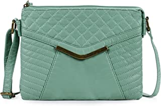 Retro V Quilted Crossbody Bag H1893