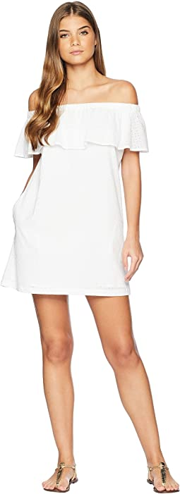 Belle-Air Off the Shoulder Ruffle Dress Cover-Up