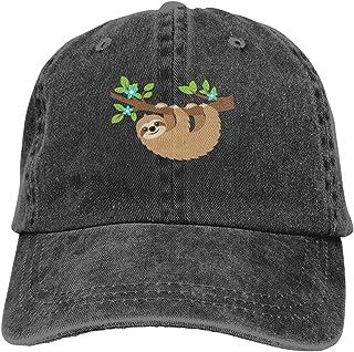Kijhsaa Nope Sloth Unisex Hip Hop Adjustable Flat Brim Hats Summer ...
