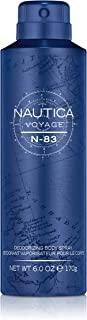 Nautica Voyage N-83 Body Spray for Men, 6 Fluid Ounces