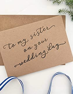 Rustic To My Sister On Her Wedding Day Card Gift For Bride