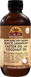 OKAY | Extra Dark 100% Natural Black Jamaican Castor Oil with Coconut Oil | For All Hair Textures & Skin Ty...