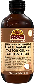 OKAY Pure Naturals OKAY Pure Naturals Xtra Dark Black Jamaican Castor Oil with Coconut Oil, 4 Ounce,
