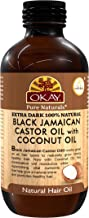 OKAY | Extra Dark 100% Natural Black Jamaican Castor Oil with Coconut Oil | For All Hair Textures & Skin Types | Grow Strong Healthy Hair - Moisturize & Revitalize Skin | 4 Oz
