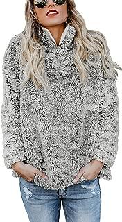 Womens Fashion Oversize Fluffy Fleece Sweatshirt Pullover Outwear S-XXL