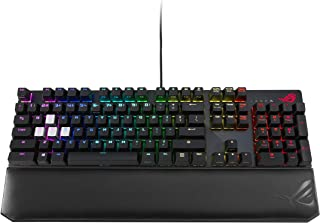 ASUS ROG Strix Scope Deluxe RGB wired mechanical gaming keyboard with Cherry MX switches (Blue Switches), aluminum frame, ...