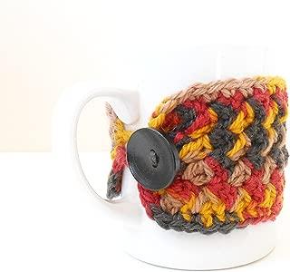 Crochet Coffee Mug Cozy, Cup Cozy, Tea Mug Sweater, Autumn Harvest Colors