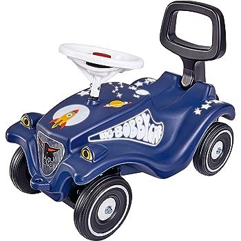 BIG-Bobby-Car Classic Moonwalker, Kinderfahrzeug mit Aufklebern im Weltraum Design, für Jungen und Mädchen, belastbar bis zu 50 kg, Rutschfahrzeug für Kinder ab 1 Jahr, nachtblau