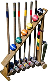 Franklin Sports Outdoor Croquet Set – 6 Player Croquet Set with Stakes, Mallets,..