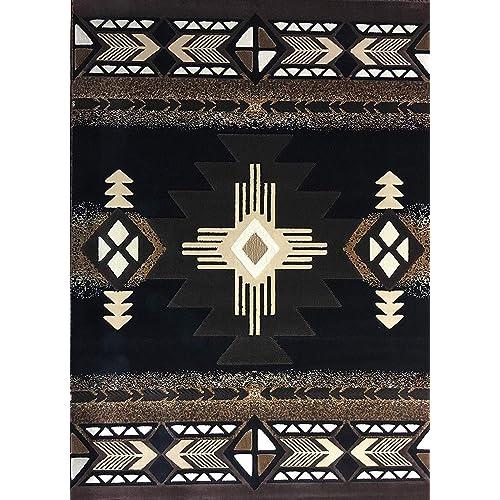 Black And Brown Rug Amazon Com