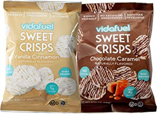 VidaFuel Whey Protein Sweet Crisps 2-Flavor Variety Pack, Contains 6 of Each Flavor, Low Sugar, 0.88oz Bags (Pack of 12)