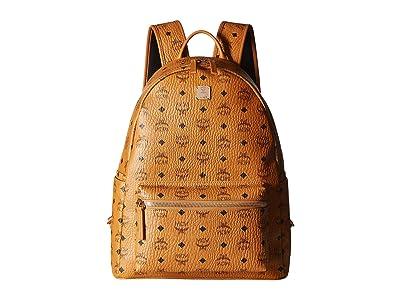 MCM Stark No Stud Medium Backpack (Cognac) Backpack Bags