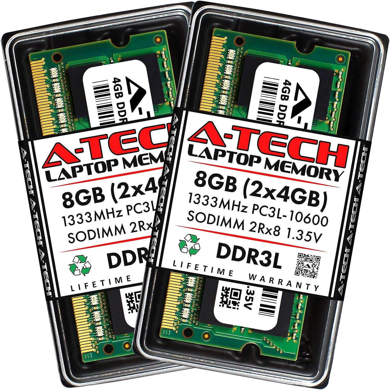 A-Tech 8GB 2 x 4GB DDR3 Max 52% OFF Time sale 1333MHz DDR3L RAM PC3-10600 SOD Laptop