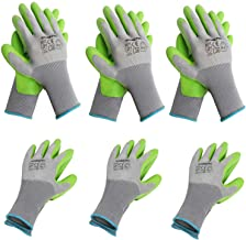 WORKPRO 6 Pairs Garden Gloves, Work Glove with Eco Latex Palm Coated, Working Gloves for Weeding, Digging, Raking and Prun...